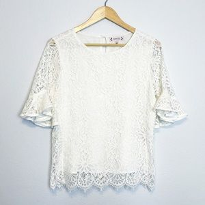 Nanette Lepore white lace top
